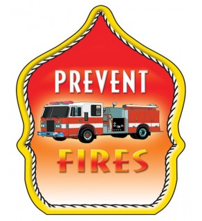 """Stock """"Prevent Fires"""" Fire Hat"""