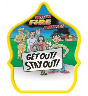 """Stock """"Get Out Stay Out"""" Fire Hat"""