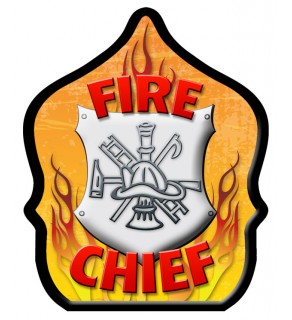 "Stock ""Fire Chief Shield"" Fire Hat"