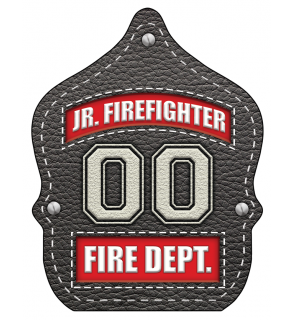 "Stock ""Jr. Firefighter Leather"" Fire Hat"