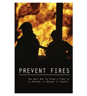 """""""Prevent Fires"""" Poster"""