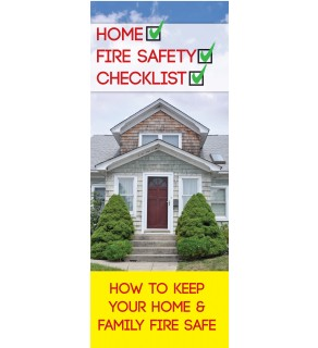 Home Fire Safety Checklist Pamphlet
