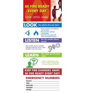 """""""Look. Listen. Learn. - Be Fire Ready Every Day"""" - Magnet Card"""