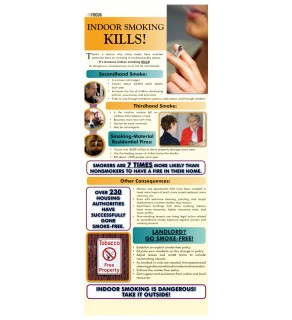 Indoor Smoking Kills! Rack Card