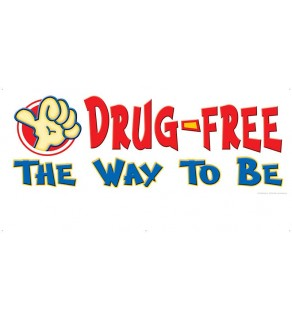 """Count On Me To Be Drug-Free"" Banner"