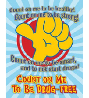 """Count On Me To Be Drug-Free"" Laminated Poster"