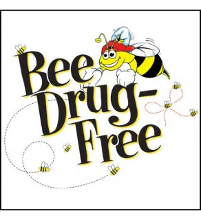 """""""Bee Drug-Free!"""" Removable Tattoo"""