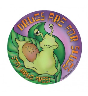 """""""Drugs are for Slugs - Stay Drug Free!"""" Stickers"""