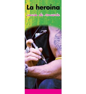 """In the Know -""""Cause of Death: Heroin"""" Spanish Pamphlet"""