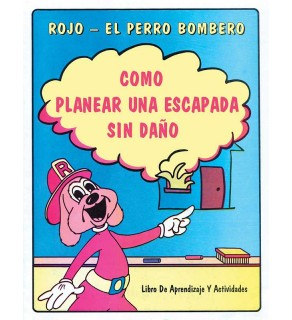 """Red the Fire Dog's """"How to Plan for a Safe Escape"""" in Spanish Activity Book"""