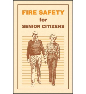 """""""Fire Safety for Senior Citizens"""" Pamphlet"""