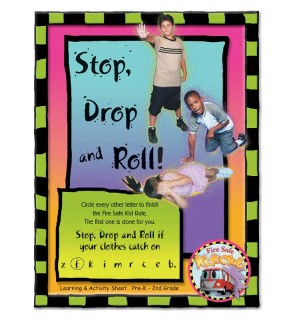 """Stretch the Ladder Truck's """"Stop, Drop, and Roll!"""" Activity Sheet"""