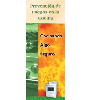 Kitchen Fire Prevention: Cook Up Something Safe Pamphlet in Spanish