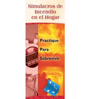 Home Fire Drills: Practice For Survival Pamphlet in Spanish
