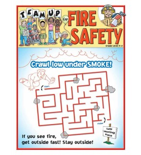 """Team Up for Fire Safety"" Activity and Coloring Sheet for Grades K - 2"