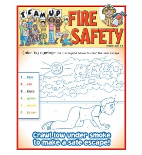 """Team Up for Fire Safety"" Activity and Coloring Sheet for Grades 3 - 5"