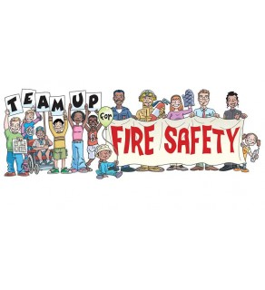 """""""Team Up for Fire Safety"""" Banner"""