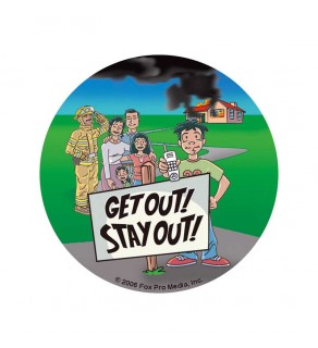 Get Out! Stay Out! Sticker