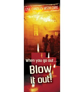 """""""Candles With Care: When You Go Out, Blow It Out!"""" Pamphlet"""
