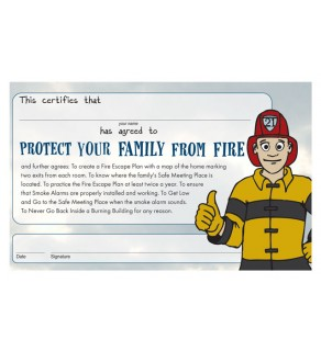 """""""Ace's Protect Your Family From Fire"""" Certificate"""