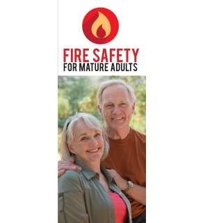 """""""Fire Safety for Mature Adults"""" Pamphlet Cover"""
