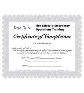 Day-Care Facility Certificate
