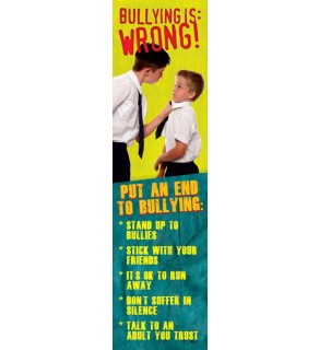 """Bullying is...Wrong"" Bookmark"