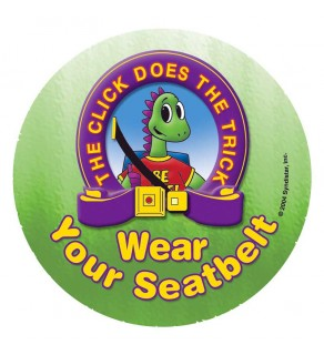 """""""Donnie Dinosaur's: The Click Does the Trick"""" Sticker"""