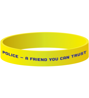 Stock Police Wristband