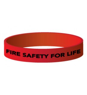 """""""Fire Safety for Life"""" Silicone Wristband"""