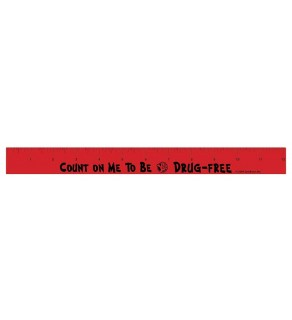 """""""Count On Me To Be Drug-Free"""" Wood Ruler"""
