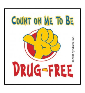 """""""Count On Me To Be Drug-Free"""" Removable Tattoo"""