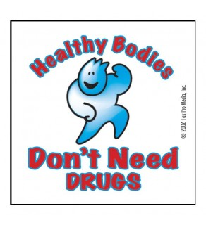 """""""Healthy Bodies Don't Need Drugs"""" Removable Tattoo"""