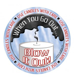 """""""Use Candles with Care: When You Go Out, Blow It Out!"""" Sticker"""