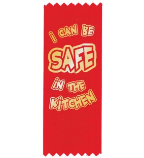 """Red the Fire Dog's """"I Can Be Safe in the Kitchen"""" Red Ribbon"""
