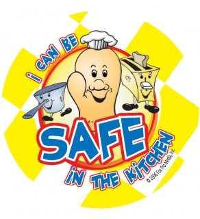 "Red the Fire Dog's ""I Can Be Safe in the Kitchen!"" Sticker"
