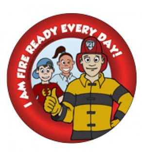 Fire Ready Every Day with Firefighter Ace Sticker