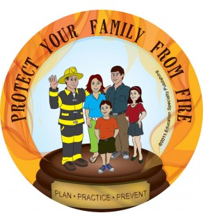 """Ace's Protect Your Family From Fire"" Sticker"