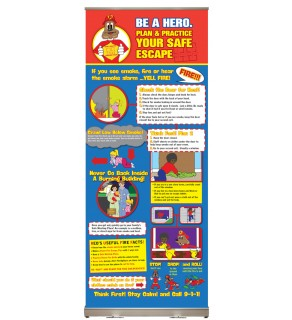"Red's ""Be A Hero. Plan & Practice Your Safe Escape"" Presentation Display"