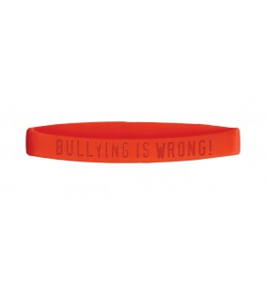 """""""Bullying is...Wrong"""" Silicone Wristband"""