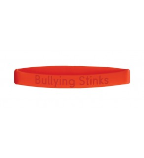 """Bullying Stinks"" Silicone Wristband"
