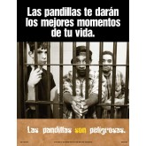"""Gangs Will Get You The Time Of Your Life"" Laminated Poster     SPANISH Version"