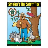 """""""Smokey's-Fire Safety Tips"""" Coloring Book"""