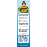"""Ace's Protect Your Family From Fire"" Bookmark"