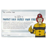 """Ace's Protect Your Family From Fire"" Certificate"