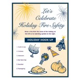 """Let's Celebrate Holiday Fire Safety"" Activity Sheet"
