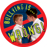 """Bullying is: Wrong"" Stickers"