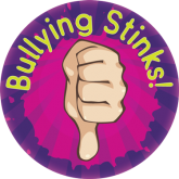 """Bullying Stinks"" Sticker"