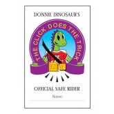 """""""Donnie Dinosaur's: The Click Does the Trick"""" Pledge Card"""