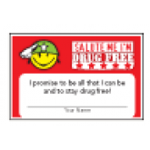 Salute Me I'm Drug Free Pledge Card